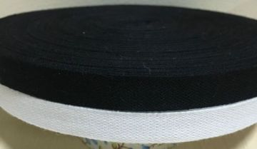 13mm (1/2inch) COTTON TAPE for BUNTING, APRON ETC ~FULL 50 METER ROLL- BLACK/WHITE